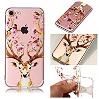 iPhone 8 Phone ケース, Abtory Colorful TPU ケース 超薄型、超軽量 クリア シリコン 耐衝撃 ケース for iPhone 7/iPhone 8 (CP04AC2501)