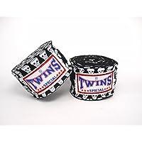 TWINS(ツインズ) バンテージ ブラック スモールスカル 伸縮タイプ 2個1セット ムエイタイ ボクシング MMA 格闘技 グローブ