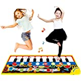 Coolplay Piano Play Musical Mat Touch Keyboard Singing Carpet for Baby Gift -10 Key Step on Keyboard,8 Selectable Musical Instruments,43.3 x14.2 Inches