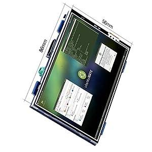 Kuman 3.5インチ Raspberry Pi用 HDMI LCD ディスプレイ タッチスクリーン モニター 解像度(480 * 320から1920*1080まで) ビデオ/ゲーム可能 Raspberry Pi 3 2 Model B B+ A+ A に対応 ラズベリーパイ SC6A