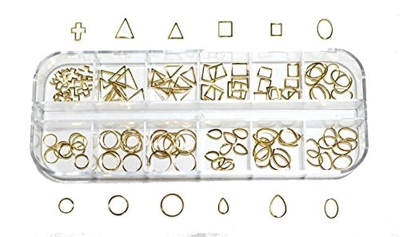 自動連鎖フォーマル【jewel】 メタルフレームパーツ ゴールドorシルバー 12種類 各10個入り カラー選択可能☆ (ゴールド)
