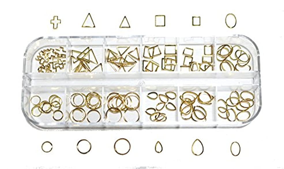 プリーツ蛇行グロー【jewel】 メタルフレームパーツ ゴールドorシルバー 12種類 各10個入り カラー選択可能☆ (ゴールド)