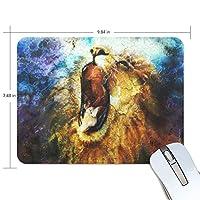 ユキオ(UKIO) マウスパッド おしゃれ 防水 滑り止め かわいい 使いやすい 北欧 抽象 ライオン 叫び 女性 リストレスト マウス PCアクセサリ 男性