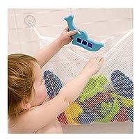 吸引カップ付きオーガナイザーベビーバスタイムおもちゃ収納吸引バッグメッシュバッグバスルームオーガナイザー45 * 36cm白、Lクリエイティブで便利