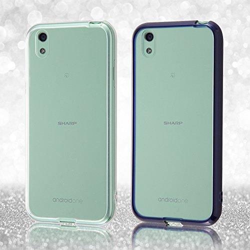 レイ・アウト Y!mobile Android One X1 ケース ハイブリッド/ダークネイビー RT-ANO3CC2/DN