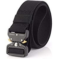 "Men Tactical Belt 1.57"" Heavy Duty Belt, Quick-Release Military Style Shooters Nylon Belts with Metal Buckle"