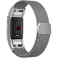Fitbit Charge 2 バンド,Wearlizer Fitbit Charge2 ミラノスチールストラップ 交換リストバンド 工具不要 全5色