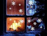 ( PETIT AMORE ) 雪の結晶 クリスマス ウォールステッカー シール たっぷり 68枚