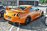 Nissan Skyline R35 GTR GT-R Orange Left Rear HD Poster Super Car 18 X 12 Inch Print by Driver Motorsports