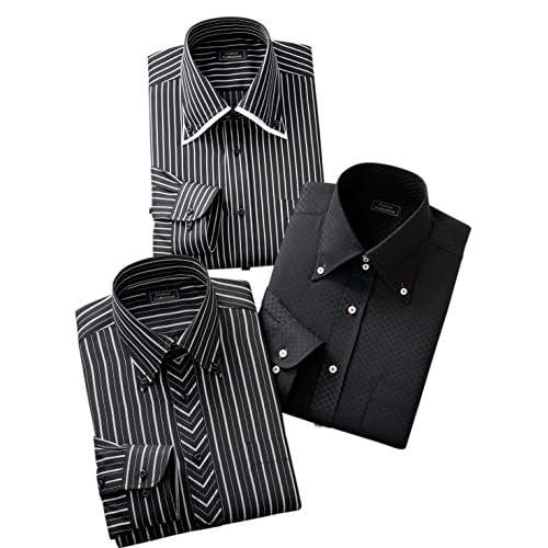 (フランコ コレツィオーニ)Franco Collezioni ドレスシャツ3枚組 50390-50391 50390-50391  ブラック系 3L