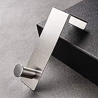 Over the Door Hooks、タオルキッチン浴室キャビネット食器棚用フック、ステンレス鋼ユーティリティフック、2パック