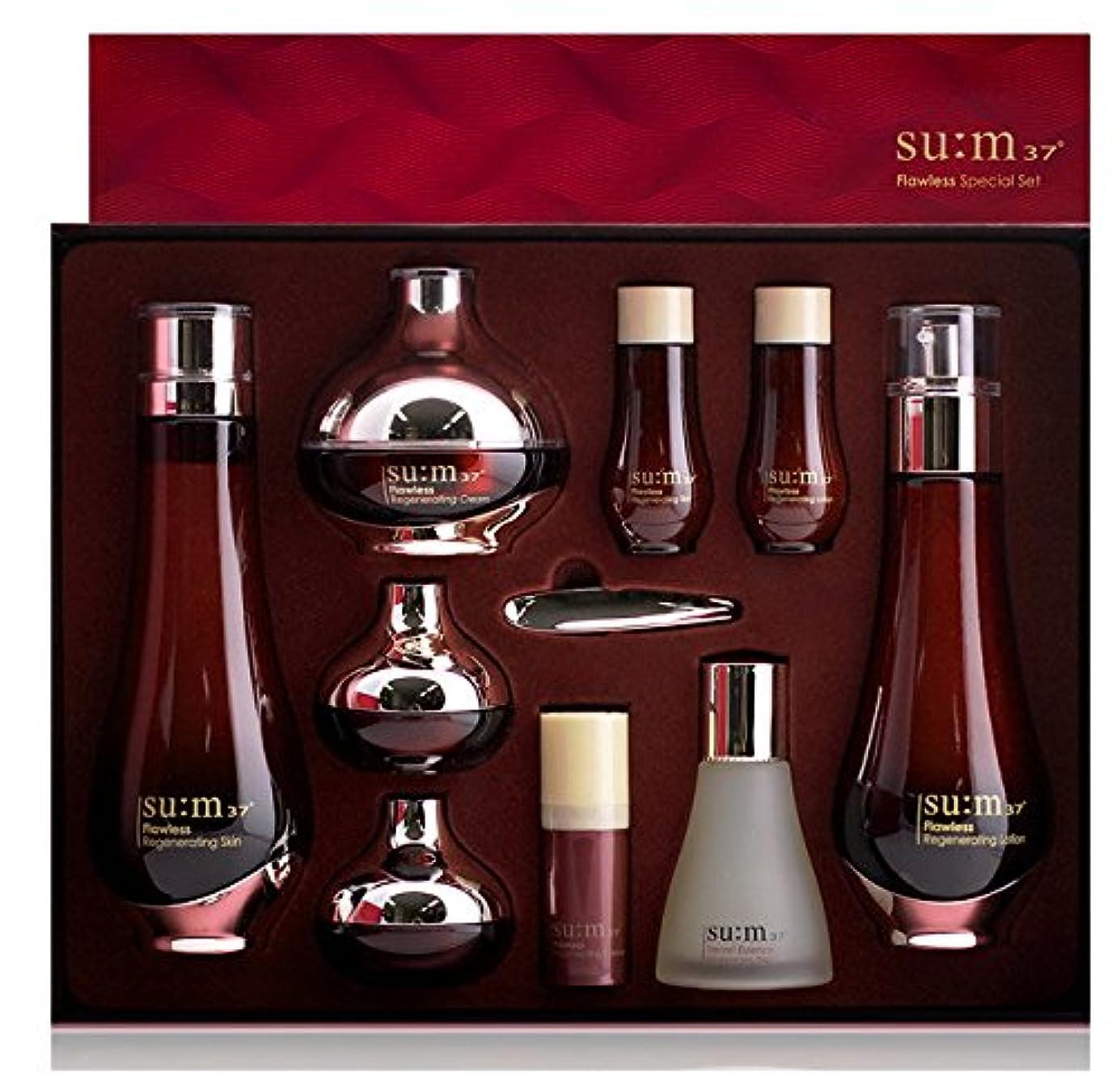 背の高いなめらかな確かめる[su:m37/スム37°]Flawless 3pcs Special Limited Skincare Set/フローレス3種のスキンケアセット + [Sample Gift](海外直送品)