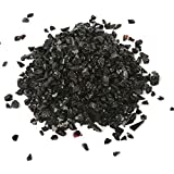Alan Stone High Luster Reflective Fire Glass Gravel,Fire Gems,Fire Drops,Fire Glass Pebbles Stones Beads Chips for Fire Pit Fish Tank Aquarium Garden,3-6mm 305g/0.67lb (Black)