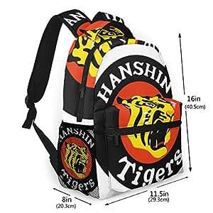 MNAFPDLKJAOO 阪神タイガース バックパックバックパックデイリーバックパックPUレザー大容量多機能ポケット学校/ワーキング/出張/旅行29cm*40cm