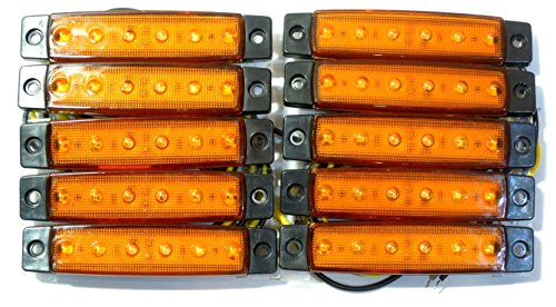 サイドマーカー LEDライト 10個セット 電圧 12V カスタム パーツ デコトラ 電飾 トラック...