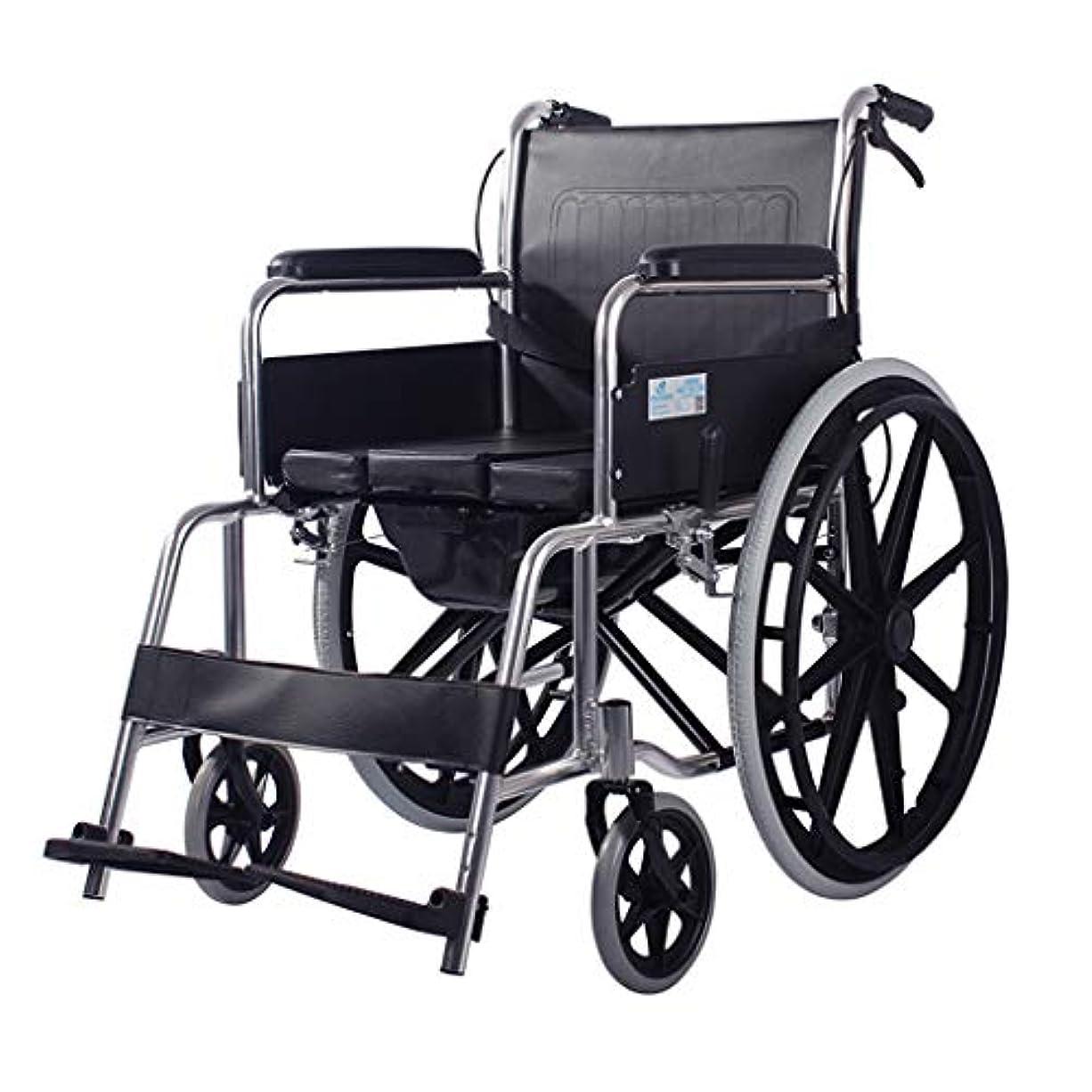 ほこりっぽい敏感なシダ車椅子折りたたみ式および4ブレーキ設計、高齢者および身体障害者用のモバイルトイレ