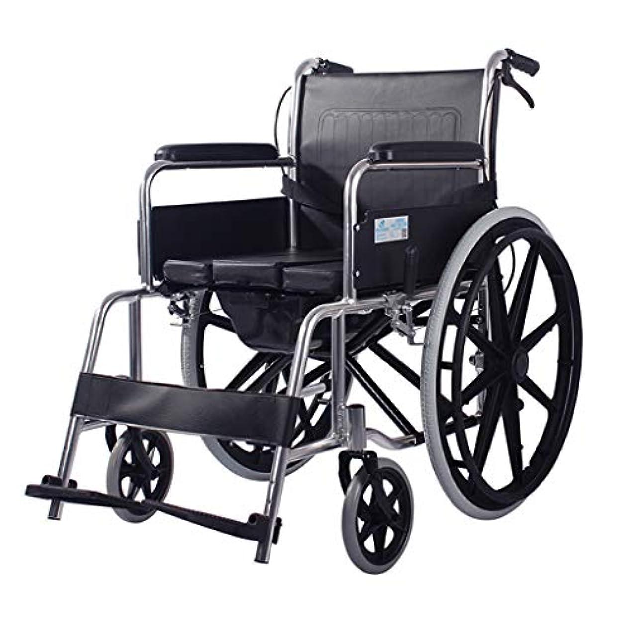 さわやかスペルなめらかな車椅子折りたたみ式および4ブレーキ設計、高齢者および身体障害者用のモバイルトイレ