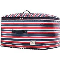 大型ストレージバッグストライプパターンオックスフォード布防水性モイスチャージャーポータブル高品質の旅行オーガナイザー羽毛布団キルト衣類移動仕上げ荷物袋 (サイズ さいず : 40 * 25 * 15cm)