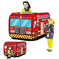JINYJIA 消防車子供用テント、室内屋外 防蚊ハウス 子供遊びテント ポップアップ ゲームハウス 折り畳み知育玩具プレゼント 秘密基地