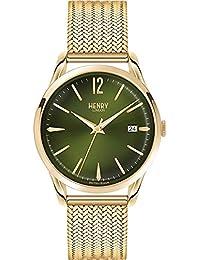 ヘンリーロンドン チズウィック 39mm メッシュ ユニセックス 腕時計 HL39-M-0102 グリーン/ゴールド [並行輸入品]