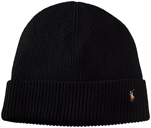 (ポロ ラルフ ローレン)POLO RALPH LAUREN(ポロ ラルフ ローレン) ワンポイント ニット帽 PC0057 001 POLO BLACK F