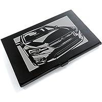 ブラックアルマイト「スバル(SUBARU) インプレッサ」切り絵デザインのカードケース[CC-087]