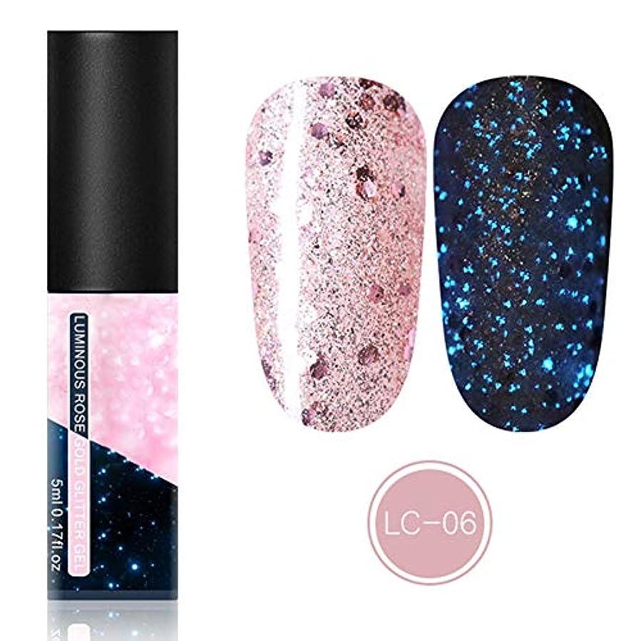 インチ端末パキスタン人feelingood Gel Nail Polish,Fluorescent Gel Nail Polish Glow in Dark Nail Enamel Varnish Gel Manicure Supply
