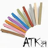 [ATK21] (2本セットLサイズ) ダークマットカラー クリップピン ダッカール シンプル 無地 前髪 艶消し レディース ヘアアクセサリー 大人可愛い (ブラウン)