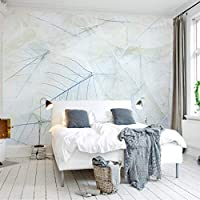 Bzbhart テレビの背景装飾画、壁用ステッカーカスタム3Dモダンファッション壁紙北欧シンプルでエレガントなリビングルームの寝室の壁の壁画線の葉壁の壁画家の装飾-450cmx300cm