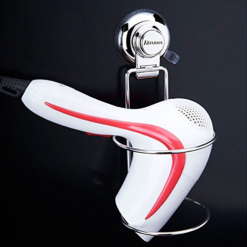 Homdox ヘアドライヤーホルダースタンド 壁掛け強力吸盤お風呂洗面所浴室収納ラックステンレス