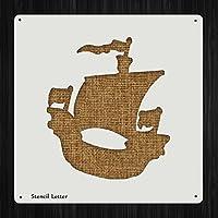 Pirate Shipスタイル403、DIYプラスチックステンシルアクリルMylar再利用可能な