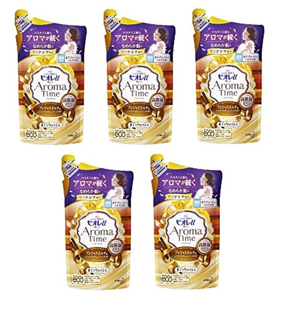 表面乳製品焼くビオレu アロマタイム プレシャスドルチェつめかえ用 360ml×5個セット