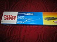 Office Depot Replacement Fax Ribbons, for Use with Panasonic KX-FP 80,81.85 Machines(Replaces KX-FA 53,55) [並行輸入品]