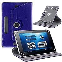 カバーAndroidタブレットケースユニバーサルPUレザー9インチタブレット用品カバーダークブルー
