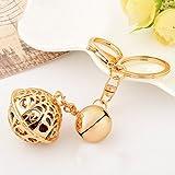 [xuanjewelry] 合金のキーホルダー 2つの鈴の飾り 金色