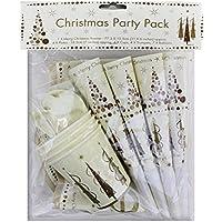 FNA Fashionsクリスマスパーティーパックプレートカップ&バルーンキットfor 4