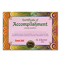 Certificate Of Accomplishment Certificate Greeting 5 x 7 Party Accessory [並行輸入品]