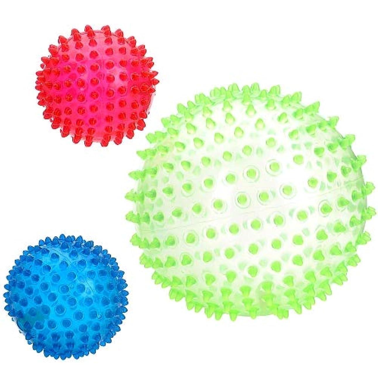 肩をすくめる散文闇Infinity Creations イマジナリウムセンサリーボール 3個パック (グリーン、レッド、ブルー) (玩具「R」US限定)