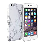 GMYLE iPhone 6S 用 艶カバーケース - ホワイト大理石のパターン