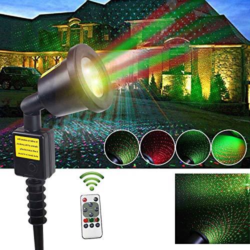 AUGYMERプロジェクターライト レーザーライトミニポータブルリモコン 室内 室外 コンパクト I...