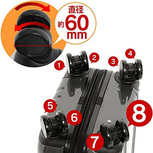 スーツケース キャリーバッグ S 軽量 8輪キャスター TSAロック 拡張機能 シルバー KD-SCK