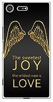 sslink SO-04J Xperia XZ Premium エクスペリア ハードケース JoyLove-F 羽 ロゴ JOY&LOVE エンジェル スマホ ケース スマートフォン カバー カスタム ジャケット docomo