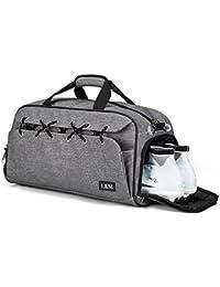 LM スポーツバッグ ボストン ジムバッグ シューズ収納 軽量 大容量 防水