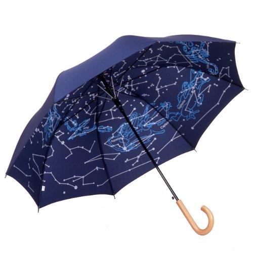 傘と日傘専門店リーベン 長傘 ネイビー 60cm×8本骨 ジャンプ傘 星座 ...