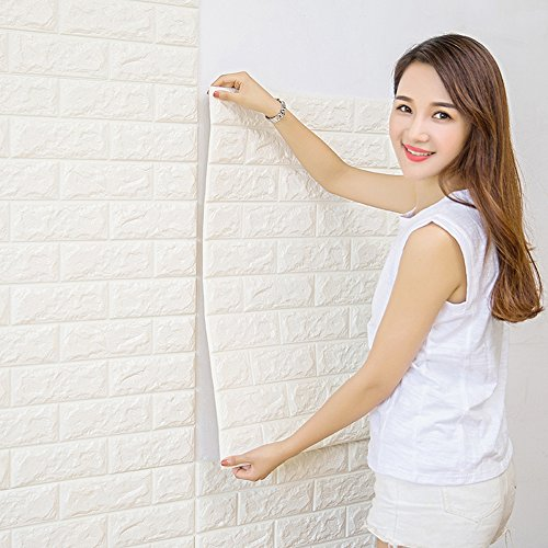 CUKULIFE 3D 立体壁紙 レンガ 壁用 シート シール...