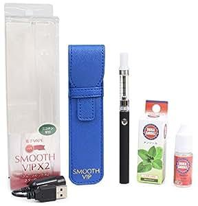 ライテック VAPE 電子タバコ SMOOTH VIP X2 スターターキット リキッド付き ブラック