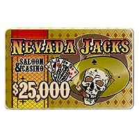 $ 25, 000ネバダジャックポーカーPlaque 40-gram Casinoグレードセラミック–5パック