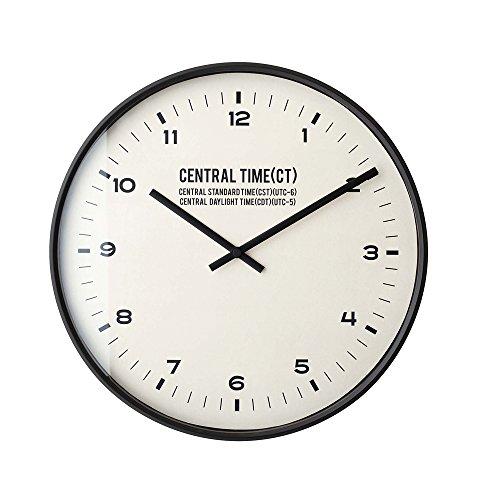 インターフォルム 電波掛け時計 セントラルタイム Central Time ブラック CL-1479BK CL-1479BK