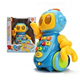 Wishtime スマートロボット 60曲内蔵 360度回転 ロボットおもちゃ 幼児 知育ラーニングトイ(誕生日プレゼント、贈り物)