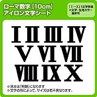 ローマ数字アイロンワッペン(10cmサイズ) ※1~9まで1文字単位でお申込み頂けます 生地:フェルト (緑)  書体 明朝